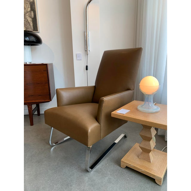 Astounding Donghia High Back Leather Odeon Lounge Chair Evergreenethics Interior Chair Design Evergreenethicsorg