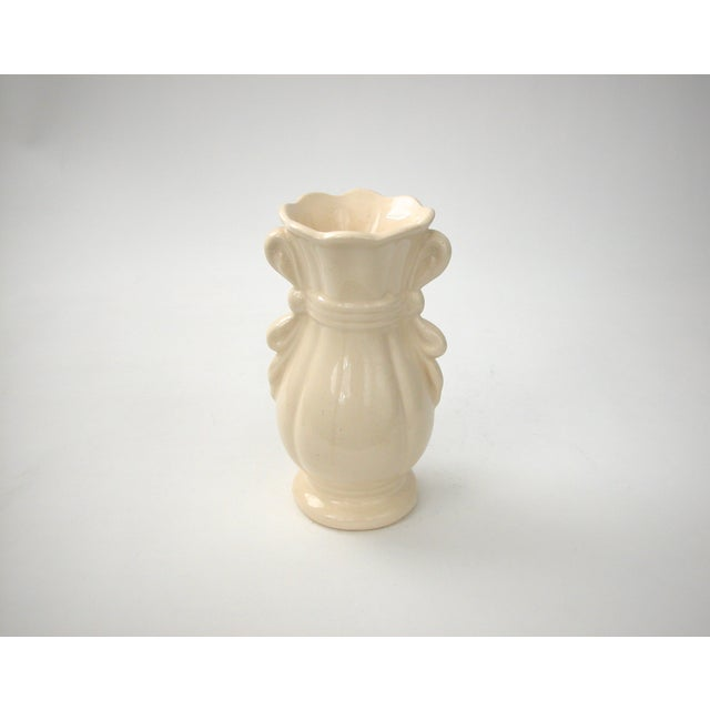 Cream Vase With Ribbon Handles For Sale - Image 5 of 9