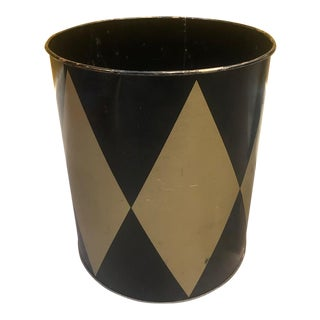 1960s Mid-Century Metal Wastebasket For Sale