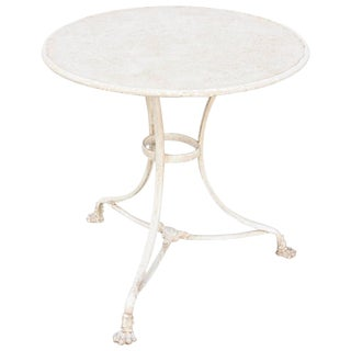 19th Century French Painted Gueridon-Form Cafe Table For Sale