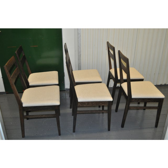 Oak Dining Chairs by Nuevo- Set of 6 - Image 3 of 7