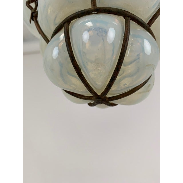 Smoked Glass Single Light Flush Mount Fixture For Sale In West Palm - Image 6 of 9