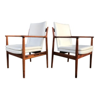 Mid Century Arne Vodder for Sibast Furniture Danish Rosewood Armchairs- A Pair For Sale
