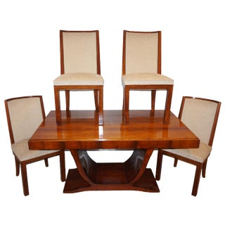 Mid-Century Modern Rosewood Extension Dining Set - 5 Pieces For Sale