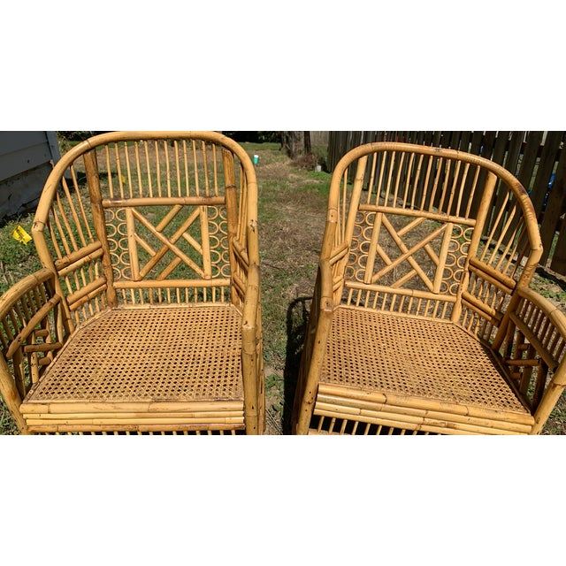 Antique Chinese Bamboo Chairs - A Pair For Sale - Image 11 of 13