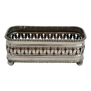 Antique Silver Wood-Lined Box For Sale