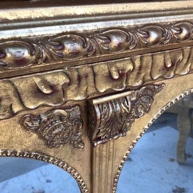 1970s Neoclassical Arch Detail Gilded Mirror For Sale - Image 5 of 7