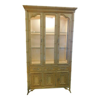 Vintage Stanley Faux Bamboo Cabinet