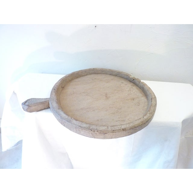 Beige Rustic Wooden Olive Tray For Sale - Image 8 of 8