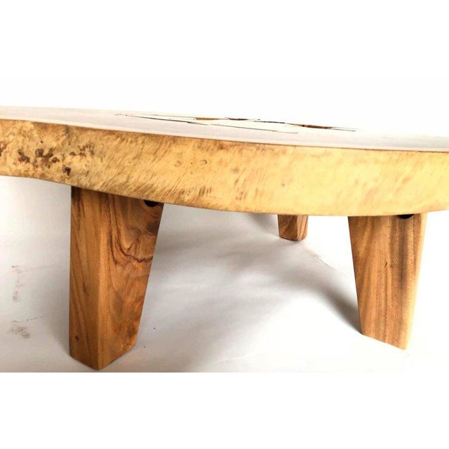 Free-Form Wood Coffee Table For Sale In Los Angeles - Image 6 of 10