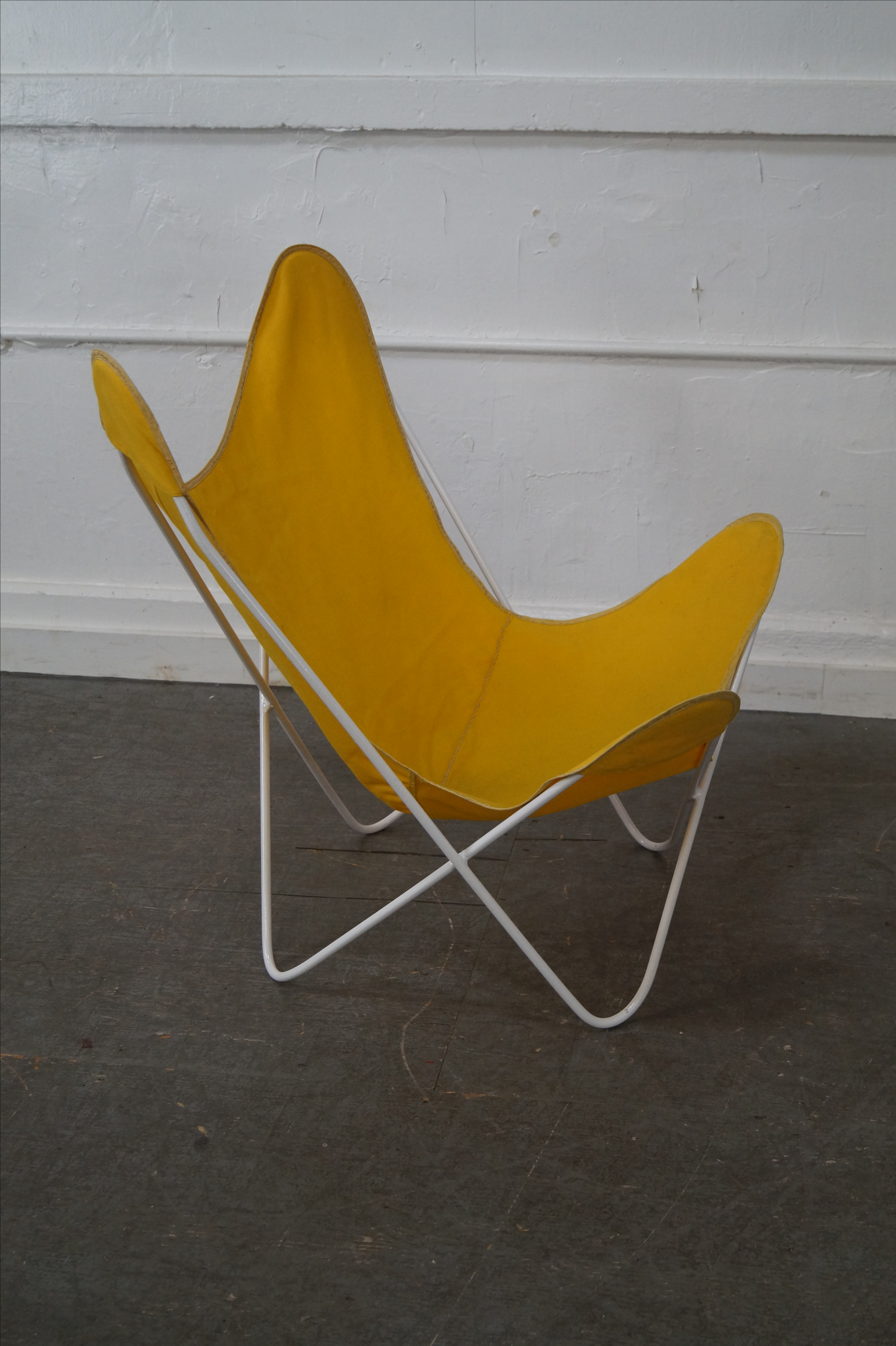 Knoll Hardoy Mid Century Modern Iron Frame Butterfly Chair   Image 5 Of 10