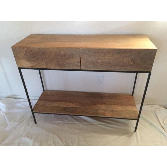 West Elm Rustic Storage Console - Image 3 of 5