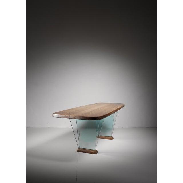 Robert Sentou Robert Sentou Desk with Glass Legs For Sale - Image 4 of 6