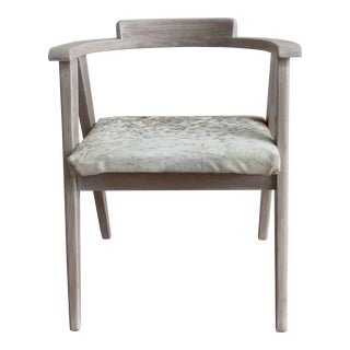 1950's Whitewashed Compass Chair For Sale