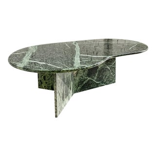Italian Green Marble Amoeba Coffee Table For Sale