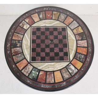 Pietra Dura Faux Bamboo Brass Marble-Top Game Table Preview