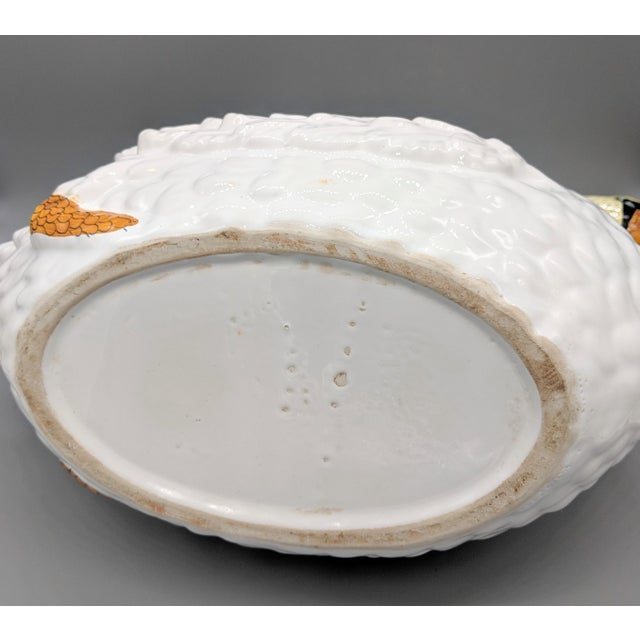 Ceramic Large 1960's Italian Ceramic Swan Tureen For Sale - Image 7 of 7