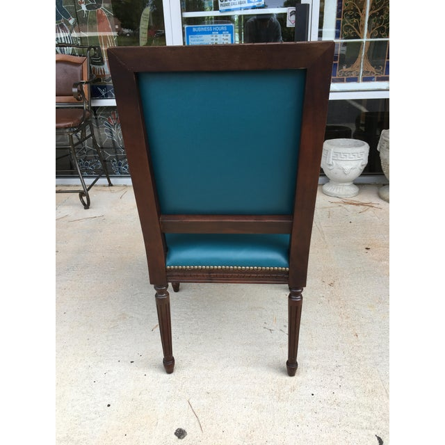 Massoud Regency Style Leather Accent Chair - Image 7 of 10