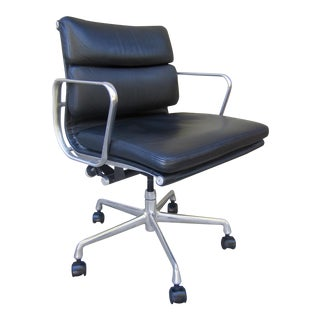 Eames for Herman Miller Aluminum Group Soft Pad Leather Executive Chair For Sale