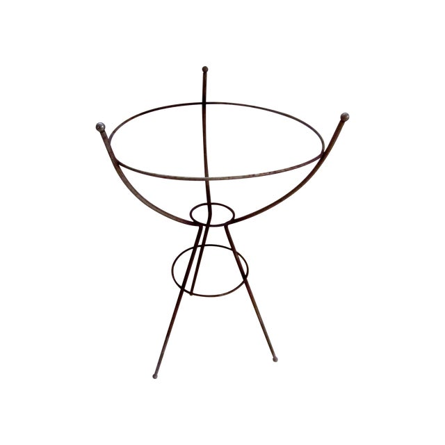 Mid Century Modern Atomic Wire Plant Stand Tripod - Image 1 of 11