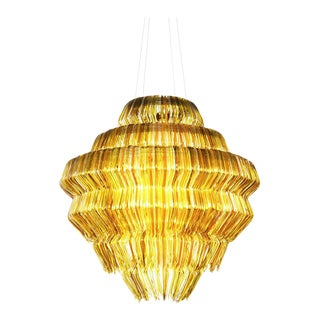 Brilli G Chandelier in Gold Resin by Jacopo Foggini For Sale