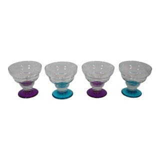 1970s Mid Century Dessert Coupe's - Set of 4 For Sale