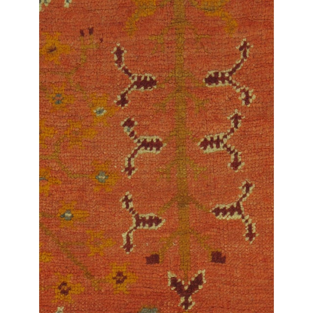 Traditional Vintage Square Turkish Oushak Rug, 6'6 X 6'8 For Sale - Image 3 of 5