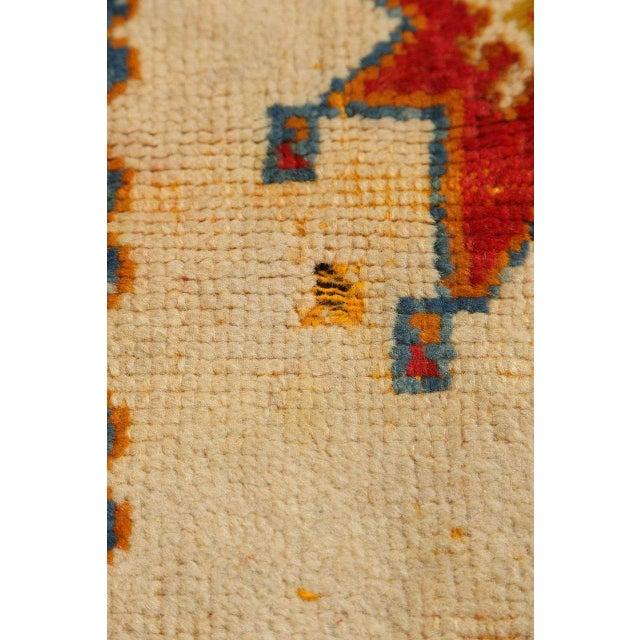 1960s Vintage Moroccan Orange Tribal Rug For Sale - Image 5 of 10