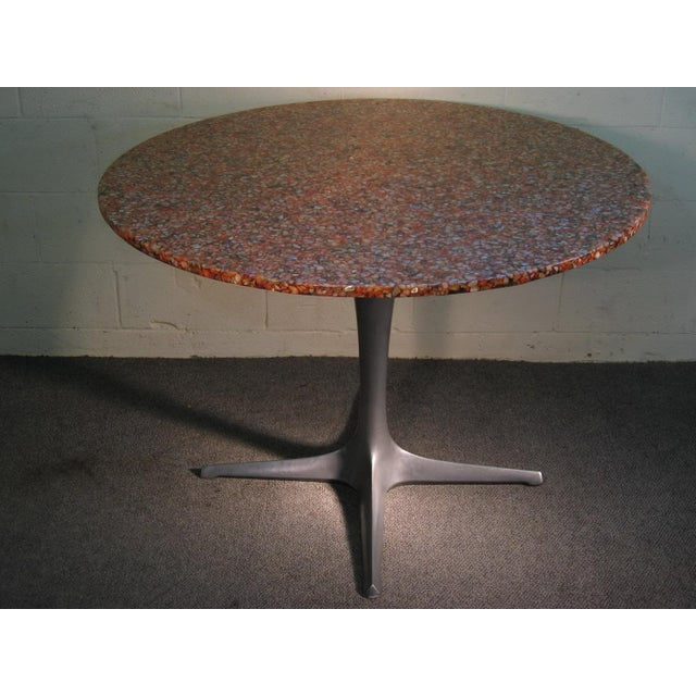 Custom Dining Table Seashell Tabletop And Tulip Steel Base Chairish - Custom tulip table