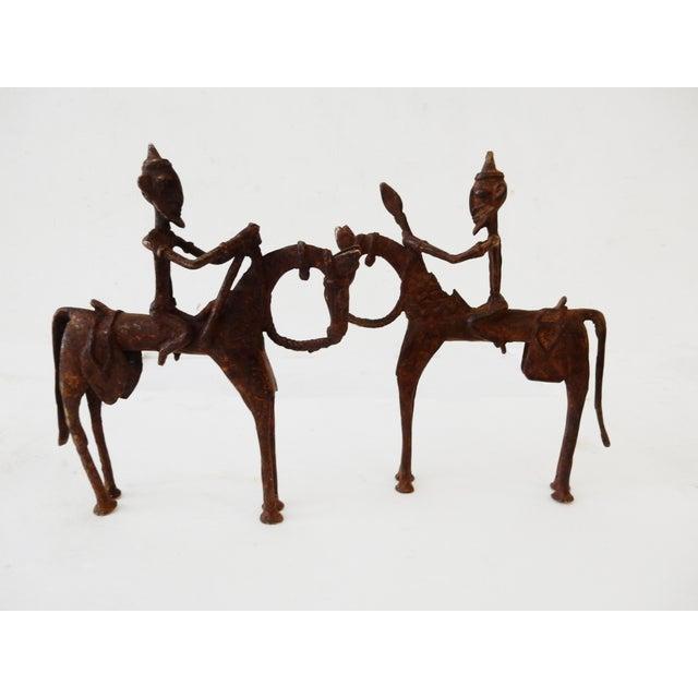 African Dogon Bronze Horseman Mali - Pair - Image 2 of 10