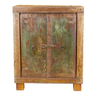Rustic Colonial Petite Rustic Cabinet For Sale