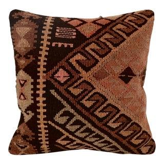 Vintage Brown & Tan Kilim Pillow