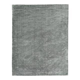 Exquisite Rugs Milton Hand Loom Viscose Light Silver - 8'x10' For Sale