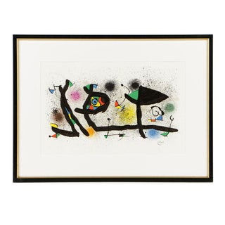 "1974 Framed Joan Miró Lithograph on Paper ""Sculptures (M. 950)"" For Sale"