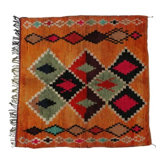 Berber Moroccan Square Rug with Tribal Design, 6'2 x 6'6 For Sale