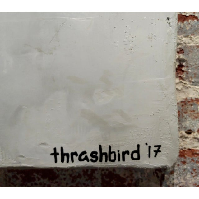 "Black Thrashbird Art ""Kim Kardashian Taking a Selfie"" Mix Media Painting For Sale - Image 8 of 10"