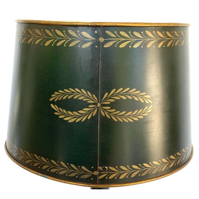 Empire Style Tole Lamps - a Pair For Sale - Image 10 of 11