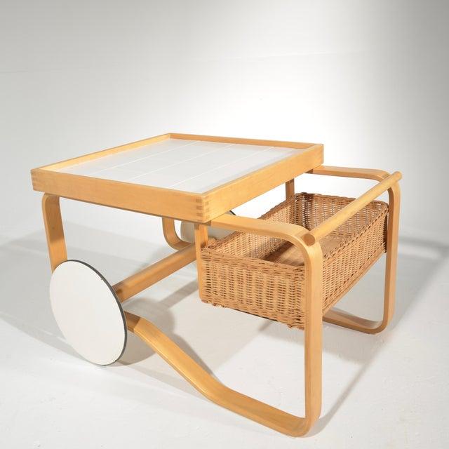 White Alvar Aalto for Artek Tea Cart Model 900 For Sale - Image 8 of 13