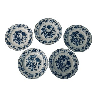 Blue Danube English China Salad Plates - Set of 5 For Sale