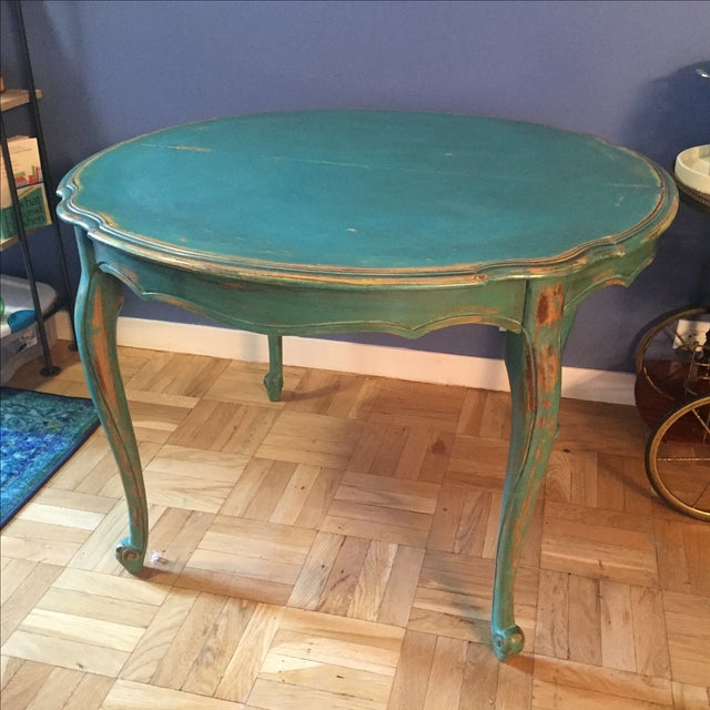 Vintage Distressed Dining Table - Image 2 of 7