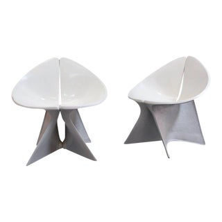 Sculptural Fiberglass Lounge Chairs For Sale