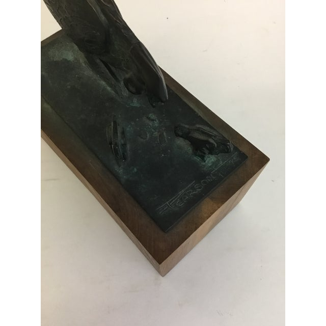 1960s Bronze Sculpture of Chicken and Chicks James Pearson For Sale - Image 5 of 9