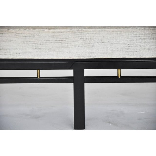 Gold Dunbar Bench by Edward Wormley For Sale - Image 8 of 10