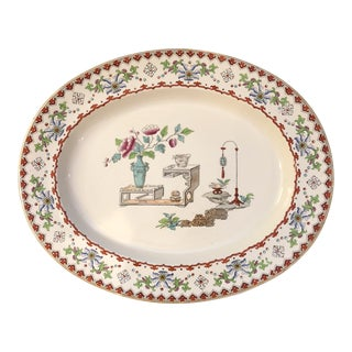 "1800s Antique Copeland ""Canton"" Platter For Sale"