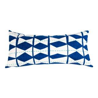 Blue Diamond Lumbar Pillow For Sale