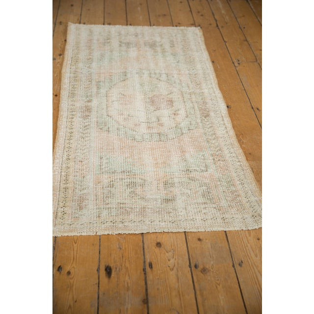 """Vintage Distressed Oushak Rug Runner - 2'7"""" X 4'11"""" For Sale In New York - Image 6 of 8"""