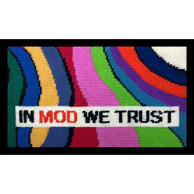 """""""In Mod We Trust"""" Pillow For Sale - Image 9 of 9"""