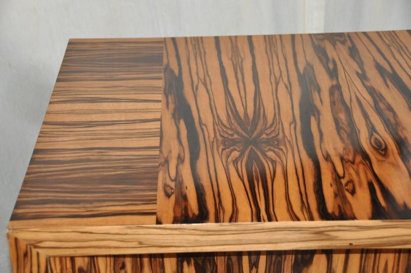 Attirant Beech Macassar Ebony Art Deco Style Designer Console Table Custom Made By  Vaughan Benz For Sale