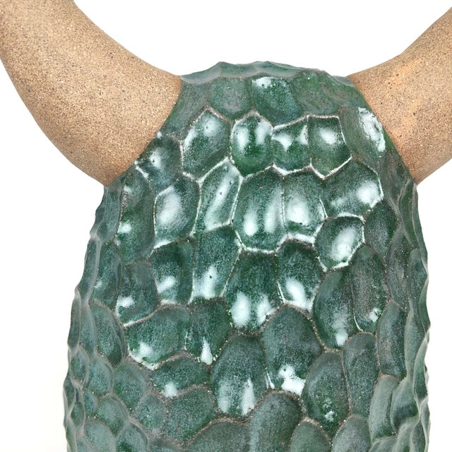 2020s 2020 Abstract Blue/Green Ceramic Sculpture, 'Beni Baby Hairy Tot' by Keavy Murphree For Sale - Image 5 of 8
