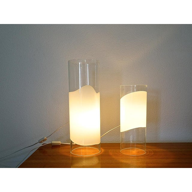 "White ""Lio"" Table Lamps by Vistosi For Sale - Image 8 of 9"